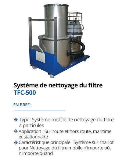 Système de nettoyage du filtre  TFC-500 de TEHAG