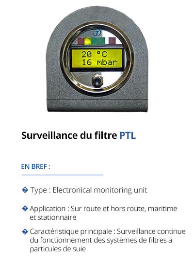 TEHAG Surveillance du filtre PTL