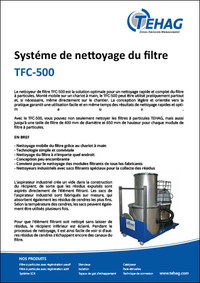 Système de nettoyage du filtre TFC-500 PDF