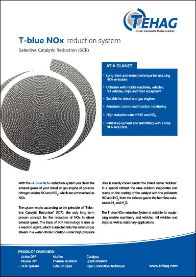 TEHAG / T-blue NOx Reduction (SCR system)