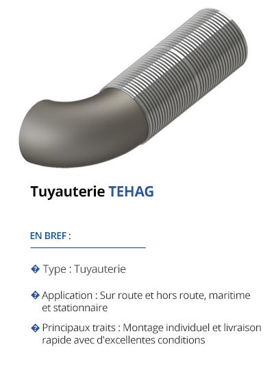 TEHAG Tuyauteries pour le post-traitement des gaz d'échappement