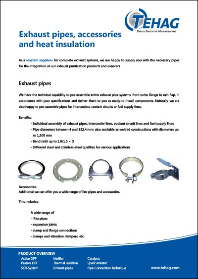 TEHAG / Exhaust pipes, accessories and heat insulation