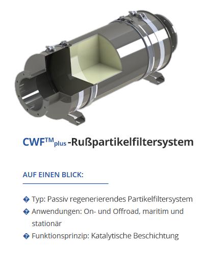 TEHAG CWF-Plus-Rußpartikelfilter