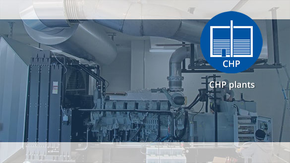 Particulate filter and SCR system for CHP plants