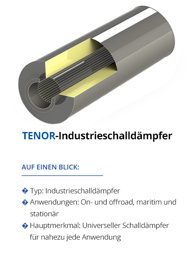 TEHAG TENOR-Industrieschalldämpfer