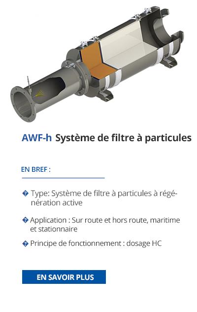 TEHAG / AWF-h Système de filtre à particules de suie
