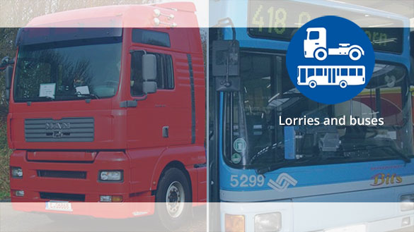 Particulate filter and SCR system for lorries and buses