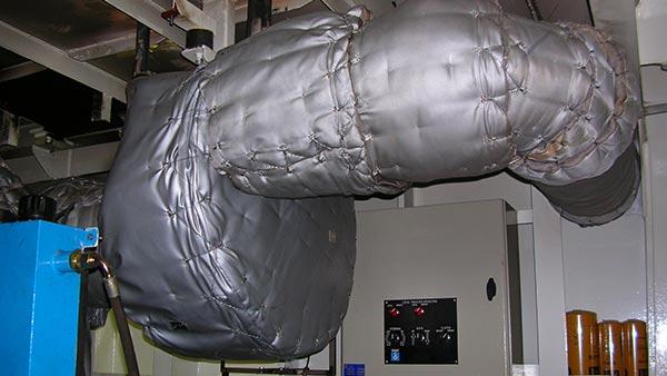 Hitzeschutzisolierung / Isolierung Abgasleitung Referenz 1
