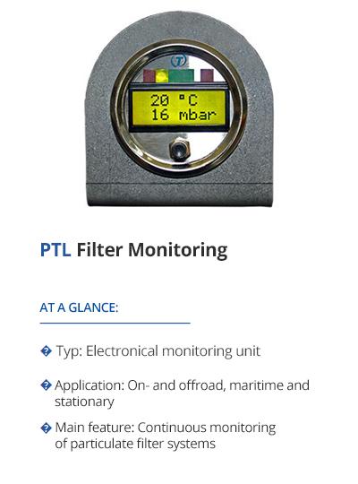 TEHAG PTL Filter Monitoring
