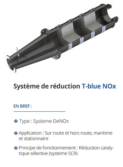 TEHAG T-blue Réduction des NOx (système SCR)