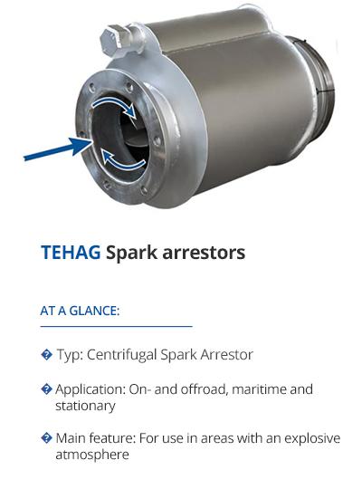 Spark arrestors from TEHAG