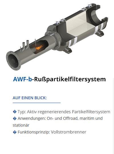 TEHAG AWF-b Dieselpartikelfilter