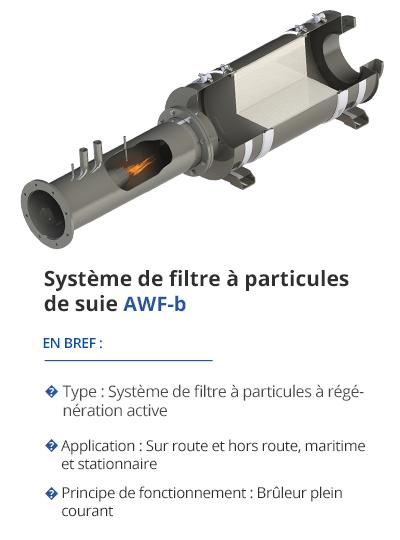 TEHAG AWF-b Système de filtre à particules de suie
