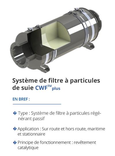 TEHAG CWF Système de filtre à particules de suie