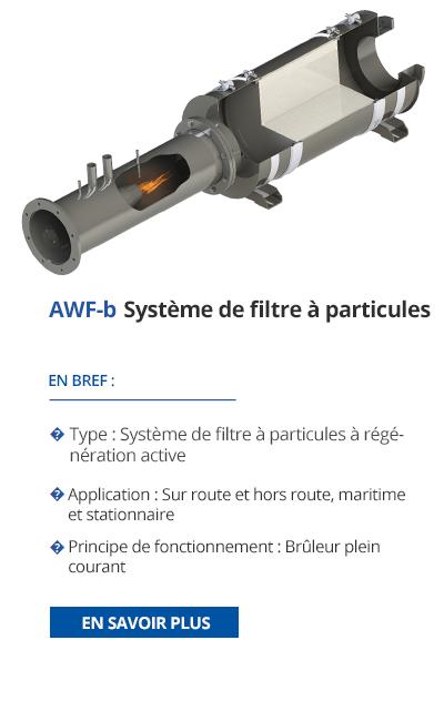 TEHAG - AWF-b Système de filtre à particules de suie