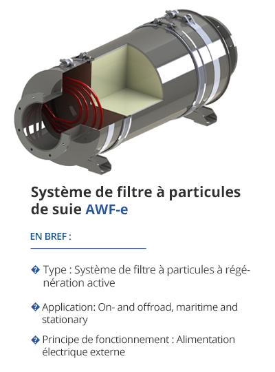 TEHAG AWF-e Système de filtre à particules de suie