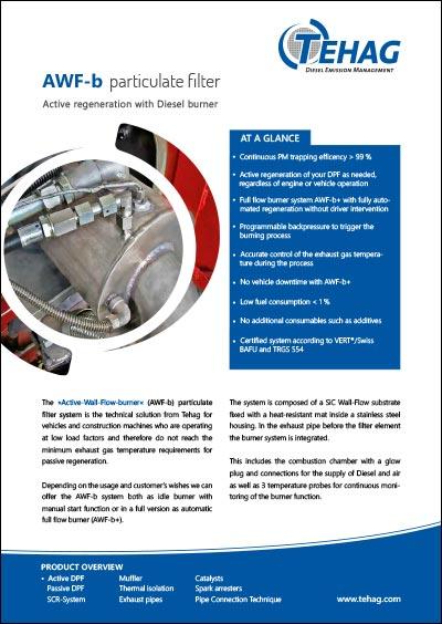 TEHAG / AWF-b diesel particle filter