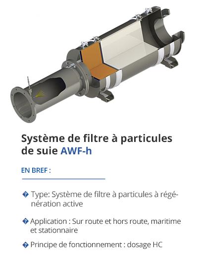 TEHAG AWF-h Système de filtre à particules de suie