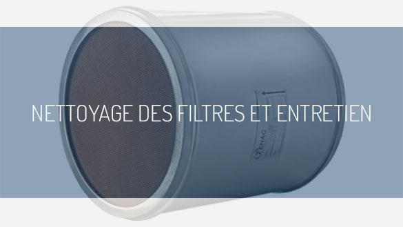 Nettoyage des filtres et entretien TEHAG