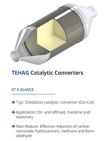Catalytic converters from TEHAG