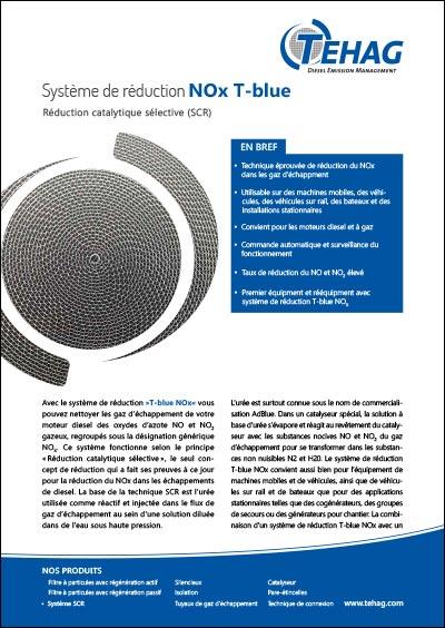 Système de réduction NOx T-blue