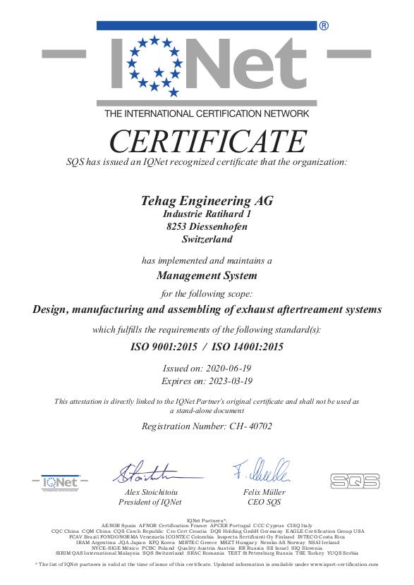 Qualität und Service: I-Net-Zertifikat ISO 9001