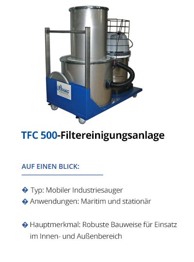 Filterreinigungsanlage von TEHAG