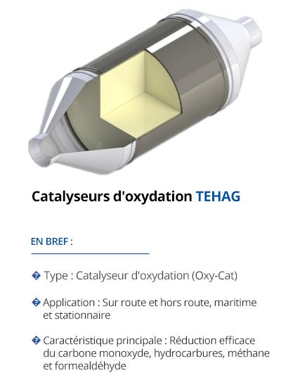 Catalyseurs d'oxydation TEHAG
