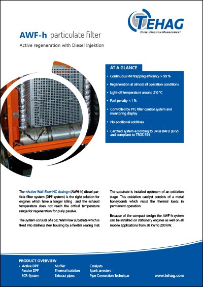 TEHAG / AWF-h Diesel Particle Filter