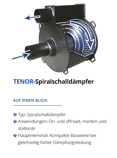 TEHAG TENOR-Spiralschalldämpfer