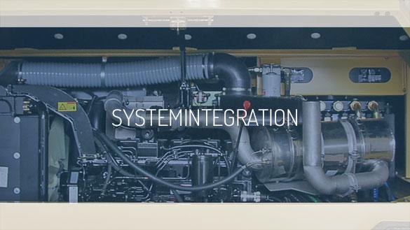 Abgasnachbehandlungssysteme zur Integration in Neumaschinen.