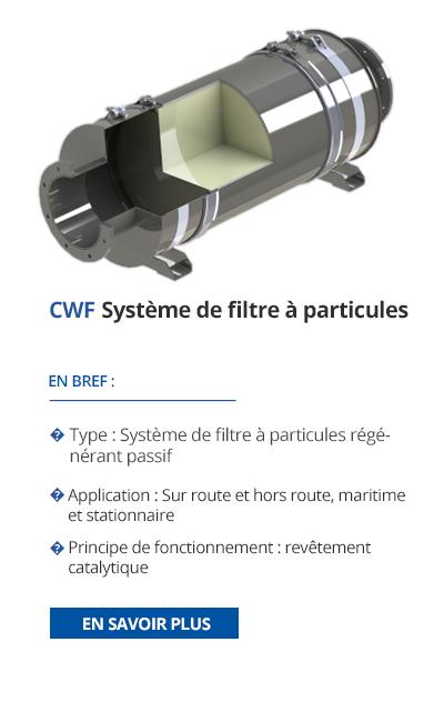 TEHAG - CWF Système de filtre à particules de suie
