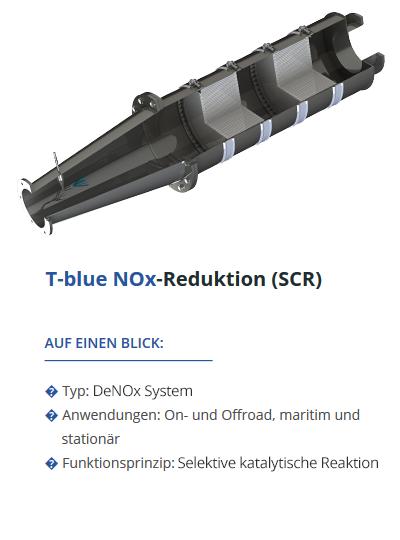 TEHAG T-blue NOx-Reduktion (SCR-System)