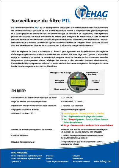 Surveillance du filtre PTL