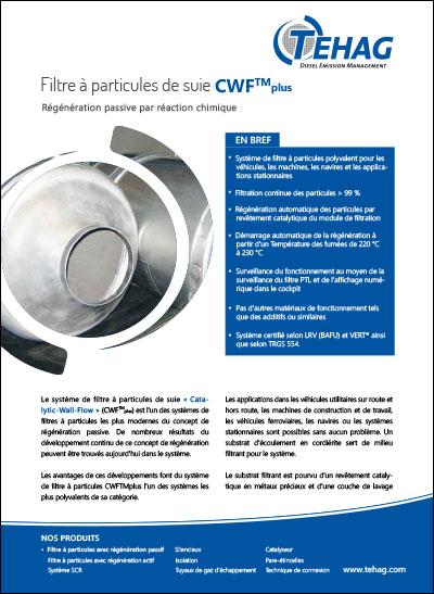 Filtre à particules de suie CWF-plus