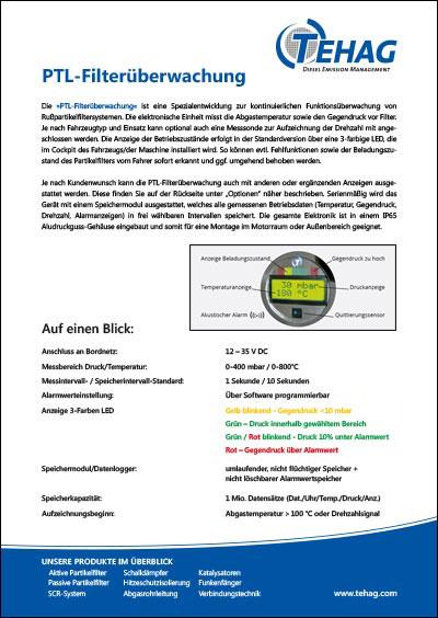 TEHAG / PTL-Filterüberwachung