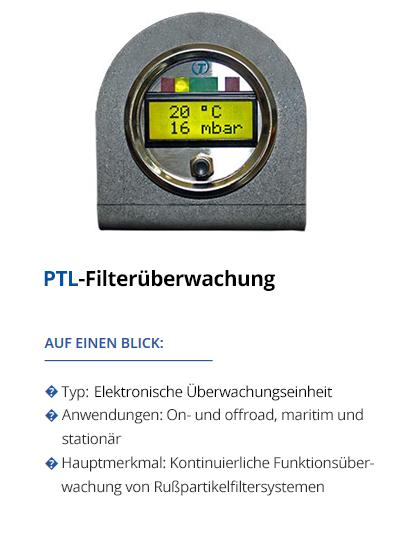 TEHAG PTL-Filterüberwachung