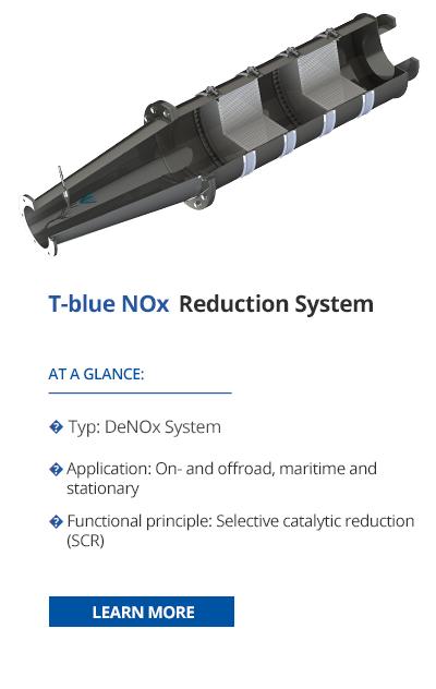 SCR system for nitrogen oxide reduction